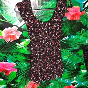 EUC Socialite Floral Print Mini Dress
